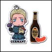 Hetalia Pin Set: Germany & Beer Sausage