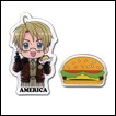 Hetalia Pin Set: America & Burger
