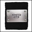 Naruto Shippuden Wristband:  Cloud Village Metal Plate