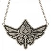Legend of Zelda Necklace: Large Antique Nickel Crest