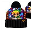Legend of Zelda Beanie: Stained Glass with Pom Pom