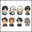 Yuri on Ice Trading Figures: Acrylic Keychain Collection
