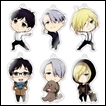 Yuri on Ice Trading Figures: Acrylic Strap Collection