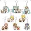 Vocaloid Trading Figures: Rascal Acrylic Keychain Collection