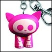 Skelanimals Keychain: Kit Cat (Pink)