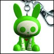 Skelanimals Keychain: Jack Rabbit (Green)