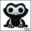 Skelanimals Plush: Chip Frog