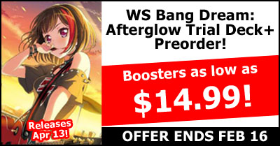 WeiB Schwarz Bang Dream Afterglow Trial Deck Plus Pre-Order Special