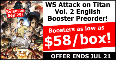 WeiB Schwarz Attack on Titan Vol.2 English Edition Pre-Order Special
