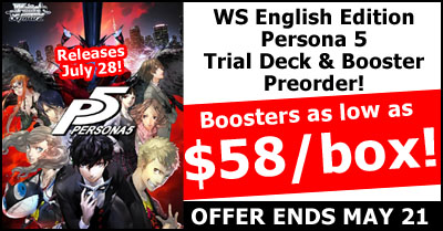 WeiB Schwarz Persona 5 English Edition Pre-Order Special