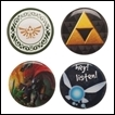 Legend of Zelda Button: Set of 4