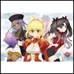 Bushiroad Rubber Playmat Collection: Fate/Extra Last Encore: Saber, Rin, Rani VIII