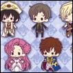Code Geass Trading Figures: Rubber Strap Collection Stage.2