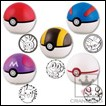 Pokemon Figure: Pokeball Stamp Series 1
