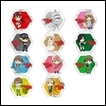 Cells at Work Trading Figures: Hexagon Tin Badge