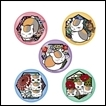 Natsume's Book of Friends Trading Figures: Kirie Series Japanese Washi Paper Tin Badge