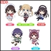 Saekano Trading Figures: Nendoroid Plus Collectible Rubber Straps