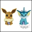 Pokemon Plush Sun & Moon DX Series: Eevee & Vaporeon