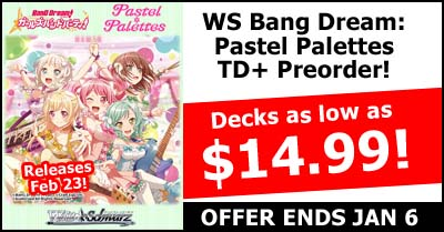 WeiB Schwarz Bang Dream Pastel Palettes Trial Deck Plus Pre-Order Special