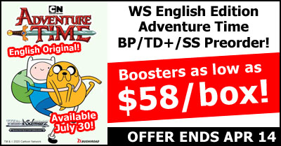 WeiB Schwarz Adventure Time English Edition Pre-Order Special